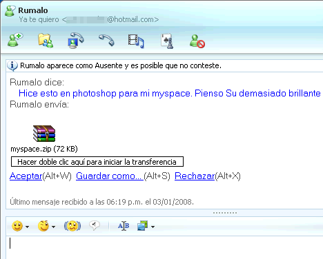 Archivo MySpace en MSN